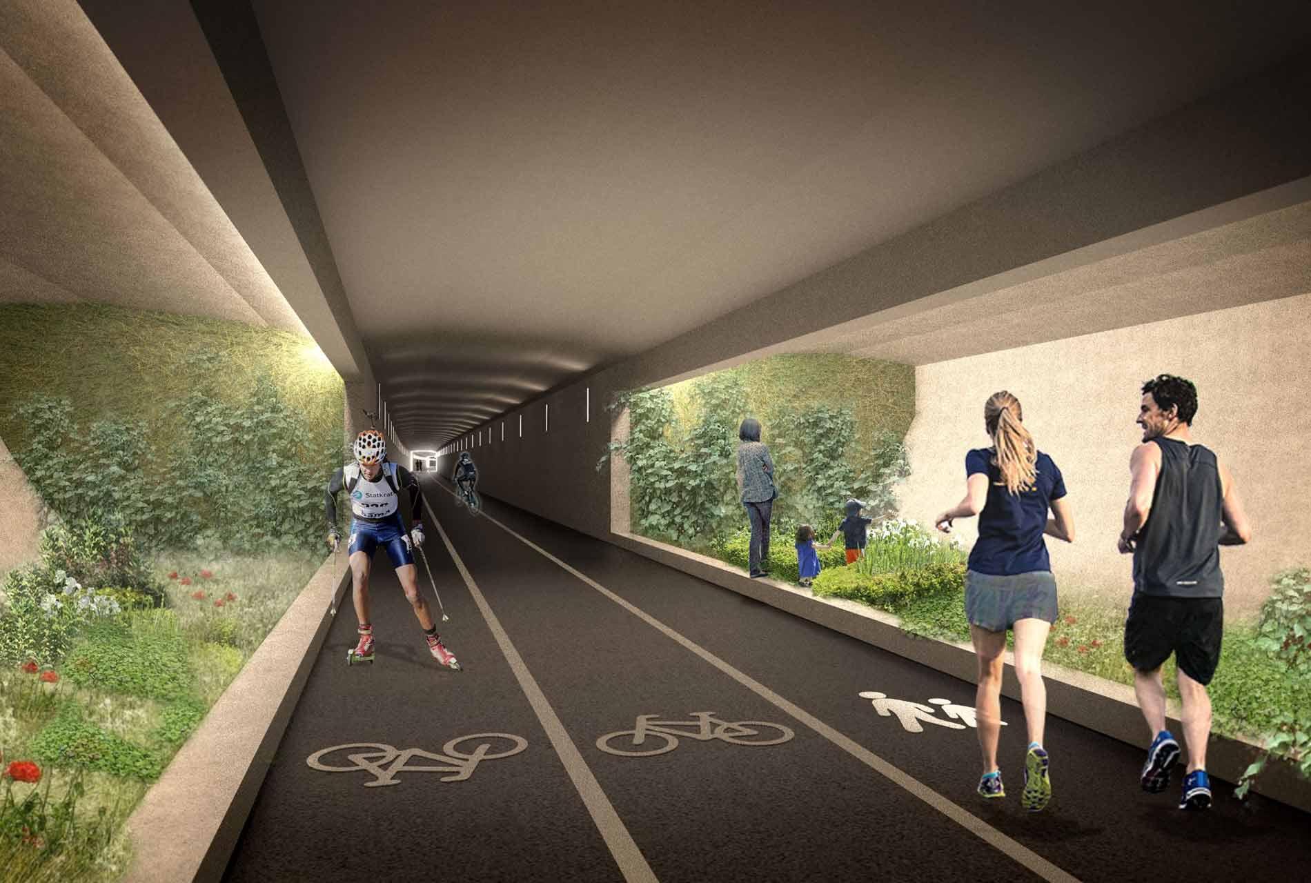 Fussgänger tunnel Norwegen